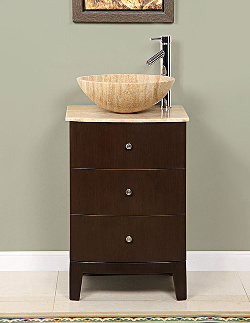 Small Vessel Sink Vanity : Narrow Depth Vanity 14-19 in. Vanity Limited Space Vanity