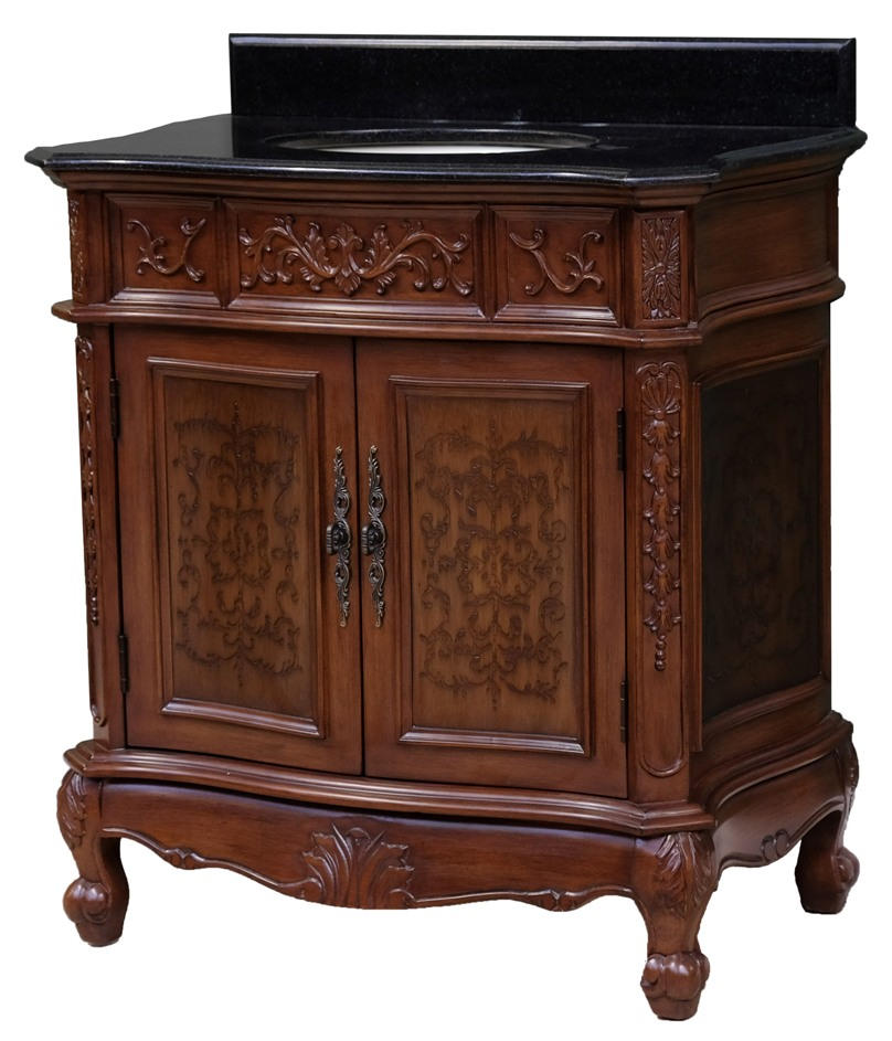 33Inch Rogers Vanity | Mahogany Sink Cabinet | Traditional ...
