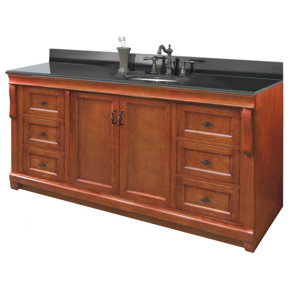 60 inches georgina vanity solid wood vanity hardwood for Single bathroom vanity